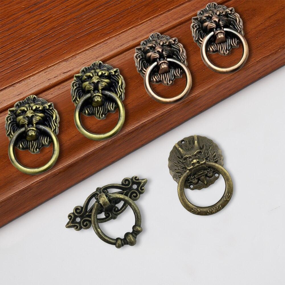 2pcs Vintage Dragon Meubles Poign/ée de Porte Cabinet Dresser tiroir Boutons Anneau Poign/ée de Meubles Hareware 32 47mm