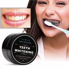 Uso diario blanqueamiento dental en polvo limpieza e higiene bucal embalaje Premium carbón de bambú activado polvo dientes blancos