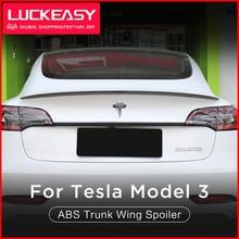 LUCKEASY высокопроизводительная версия автомобиля ABS Багажник крыло спойлер для Tesla модель 3- купе производительность багажник спойлер крыло