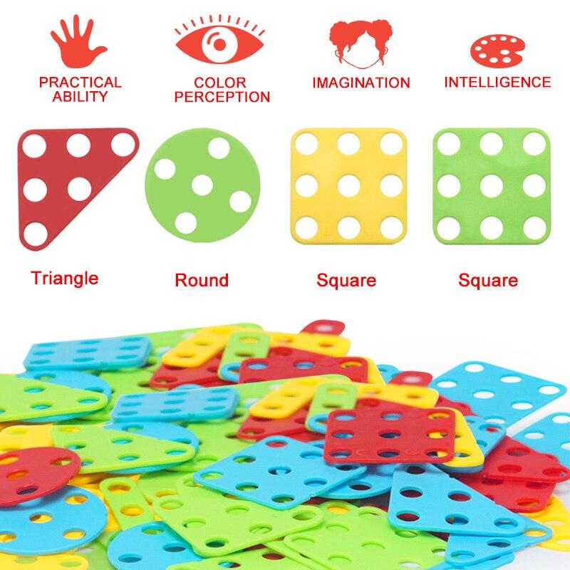 Image 5 - Детский набор инструментов, игрушки для детей, дрель головоломка, Электрические игрушечные дрели, винтовые Игрушки для мальчиков, детский набор сверл-in Навинчивающиеся блоки from Игрушки и хобби on AliExpress