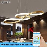 White Black Gold Led Pendant Light Kitchen Dinning Room Lighting Music Lamp Shade Lustres Luminaire Indoor Fixtures AC85 260V