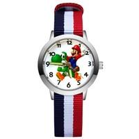 Mode Cartoon Niedlichen Stil Kinder Kinder Student Mädchen Jungen Quarz Nylon Strap Handgelenk Uhren Uhr JA120