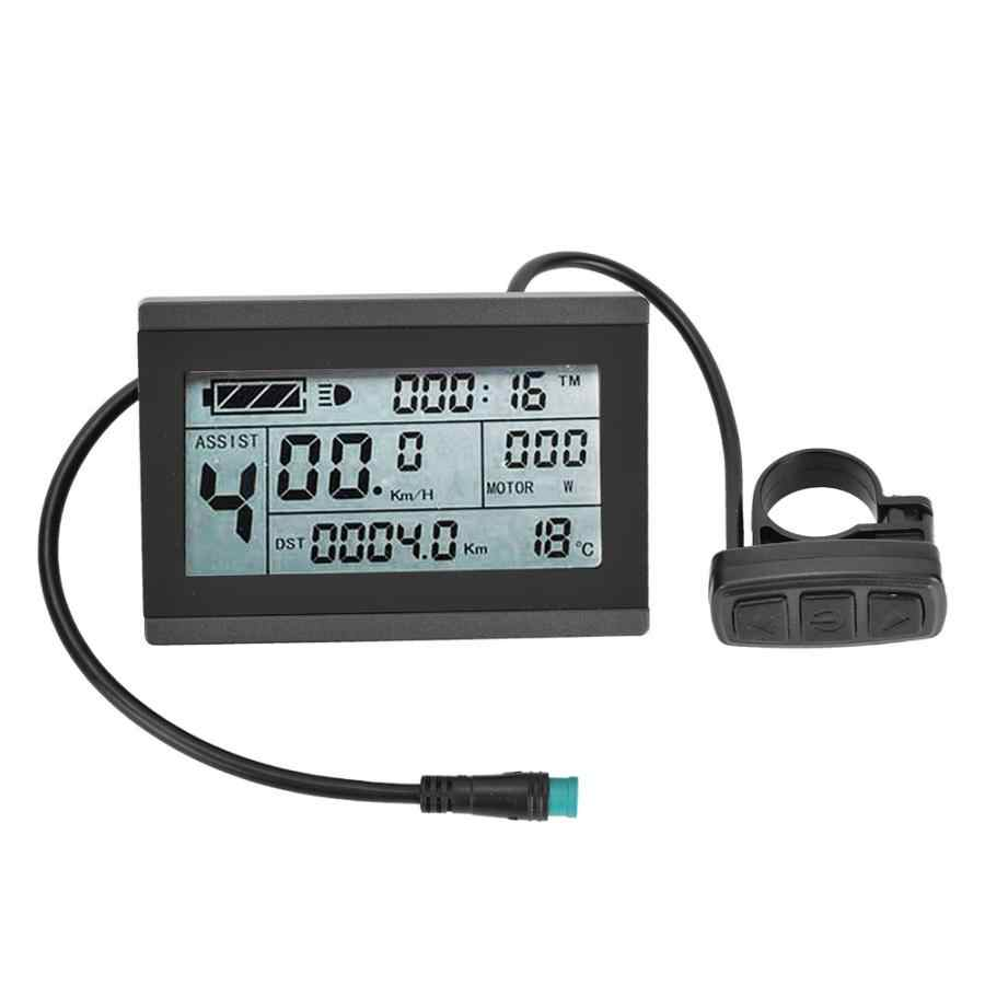 E-จักรยานมอเตอร์KT-LCD3 พลาสติกไฟฟ้าLCD Display Meterกันน้ำสำหรับจักรยานการปรับเปลี่ยนใช้KT-controlle