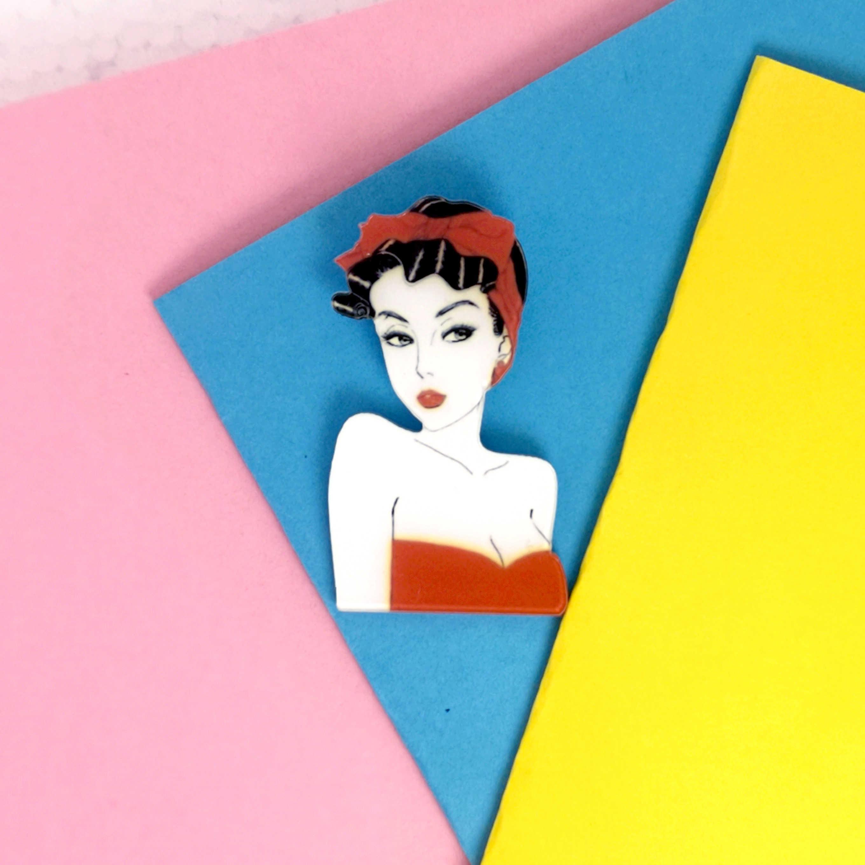 Bros untuk Wanita Fashion Gadis Koleksi Pria Anak Bros Pin Aksesoris Lencana Berlebihan Lucu Kartun Yang Indah