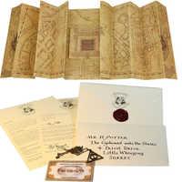 Potiers la carte du maraudeur étudiants busards Collection Hogwart lettre d'acceptation assistant billet d'école reliques de mort collier