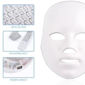 Image 2 - פנים מסכת טיפול 7 צבעים אור יופי פוטון התחדשות עור טיפול פנים טיפול יופי אנטי אקנה טיפול הלבנת ספא