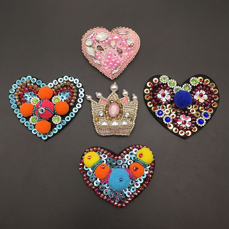 Cute Small  Patches New Fashion Handmade Bow Rhinestone Shoe Flower Patches DIY Hand Paste Claw Chain Shoes Decorations