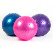 MHKBD Big Yoga Ball Massage 65cm Fitness Gym Balance Fitball Exercise Pilates Workout Barbed Massager Ball