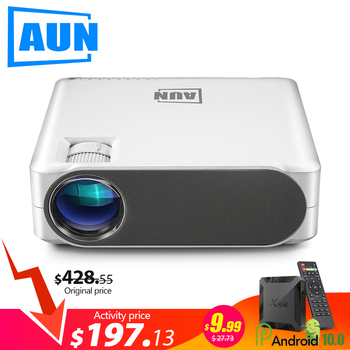 AUN Full HD Projector AKEY6/S, 6800 Lumens 1920x1080P Home Cinema (Optional Android 6.0 OS WIFI support 4K ) for PS5 X box