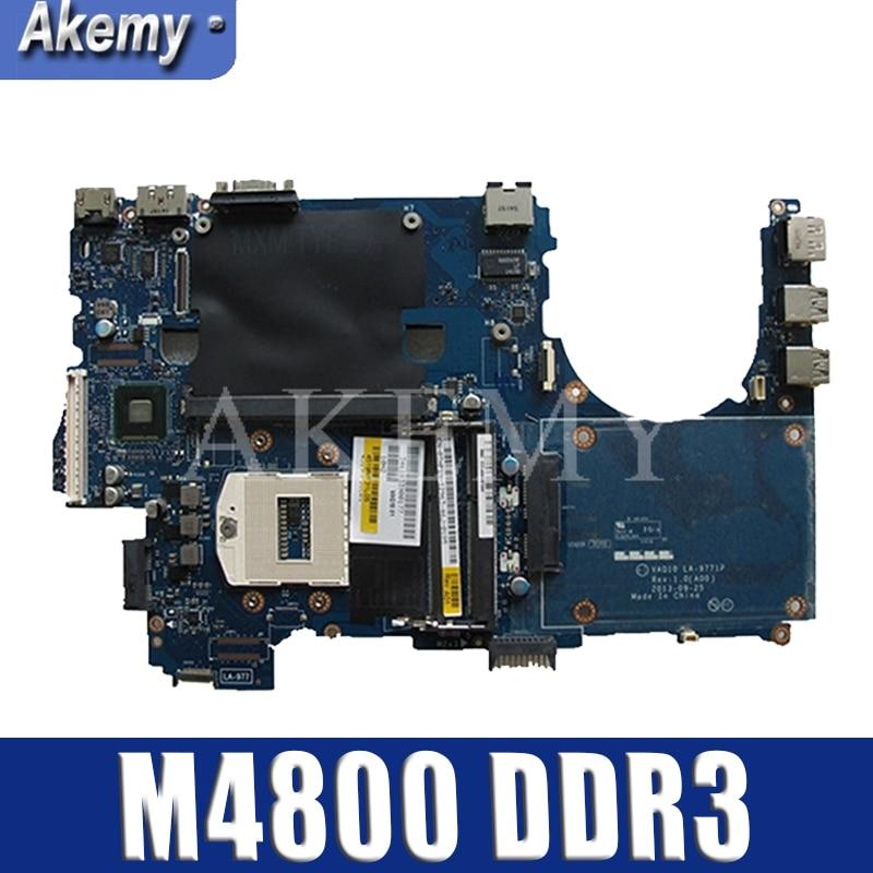 FOR Dell Precision M4800 Laptop Motherboard LA-9771P DDR3 CN-0WNW0H 0WNW0H WNW0H Motherboard Tested 100% Work