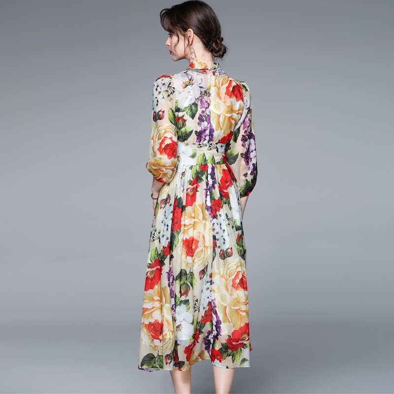 Femme Beltaine Mousseline Imprimé Floral Flounced Surplis Jour Robe