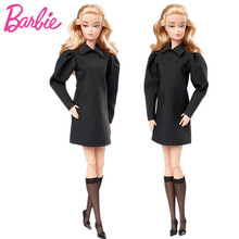 Barbie Doll Silkstone Barbie Best In Black Classic Toys Collectors Edition Barbie Toy For Dress Up Toys for Girl Gift GHT43
