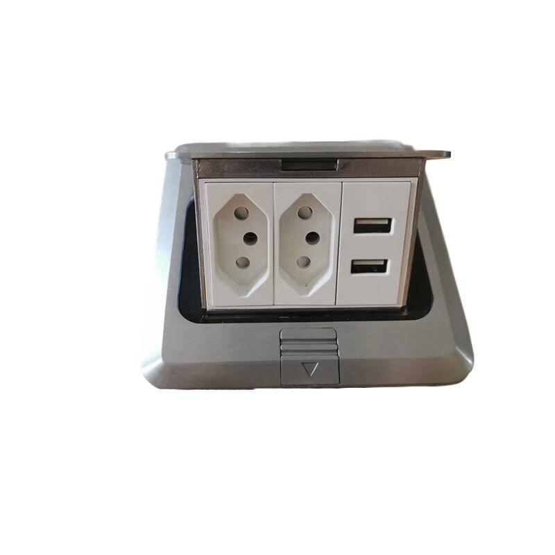 Tout le tableau de bord électrique Standard de panneau en aluminium avec 2 prises de courant brésiliennes + 2 prise de chargeur d'usb adaptée aux besoins du client disponible