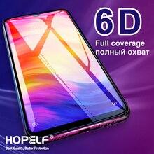 Protector de pantalla de vidrio templado 6D para Xiaomi, Protector de vidrio de seguridad para Xiaomi Redmi Note 7, 8, 6 Pro, 6A, 7A, Mi 9T, 9