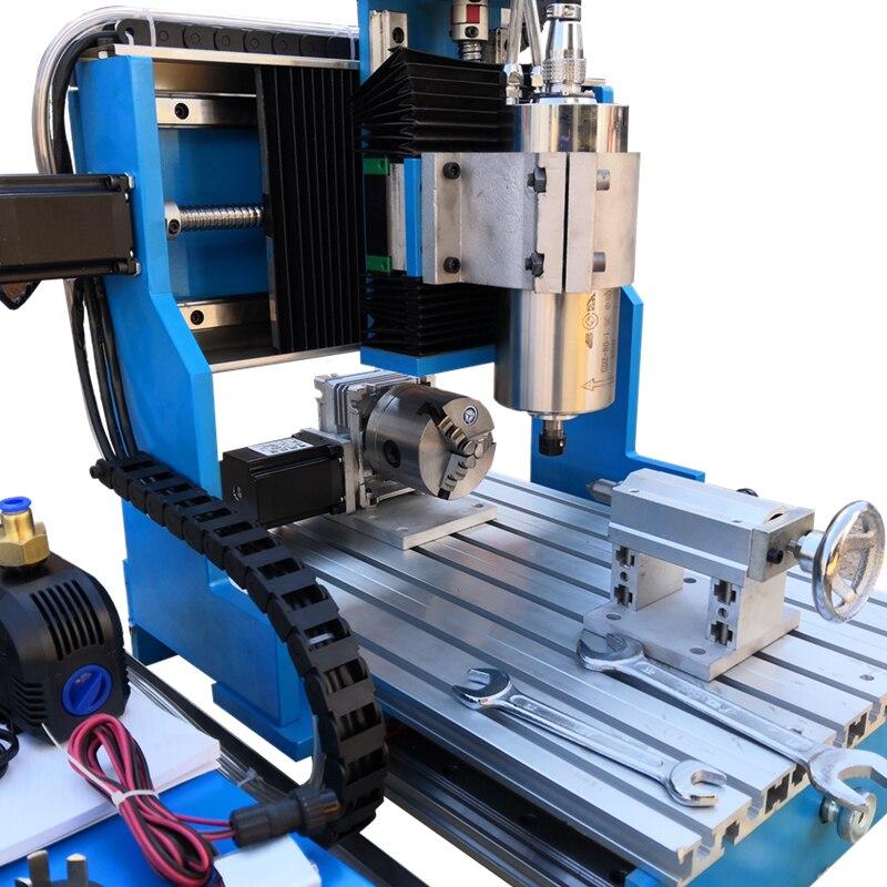 Linear Guide Schienen 1.5KW 2.2KW 4 Achsen CNC Router MACH3 USB 3040 Metall Aluminium Eisen Stahl Gravur Fräsen Maschine