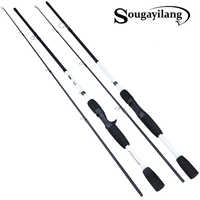 Sougayilang 165/175cm Carbon Spinning Fishing Rod M Power Fishing Tackle Lure Rod Casting Rod Canne Spinnng Spinning Fishing