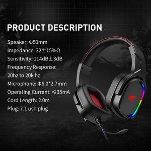 Image 5 - Havit หูฟังสำหรับเล่นเกม 7.1 เสียงรอบทิศทาง USB แบบมีสาย RGB เกมหูฟังพร้อมไมโครโฟนสำหรับแท็บเล็ต PC XBOX ONE PS4