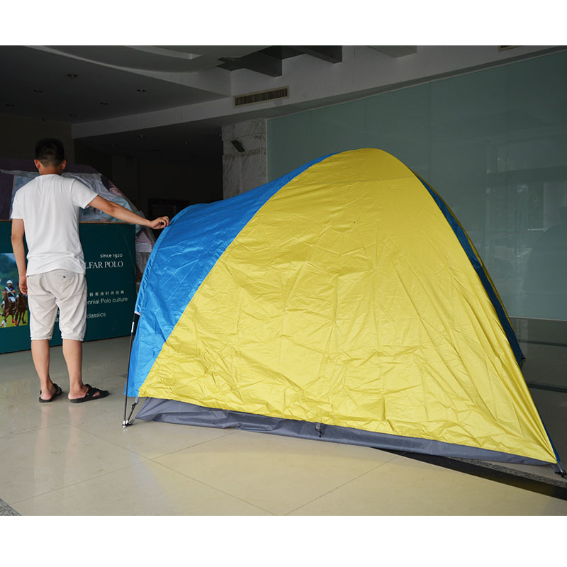 3-4 Person Large Double Layer Tent for Outdoor Camping Hiking Hunting Fishing Travel Picnic Tourist Emergency Tent 320x210x145cm (1)