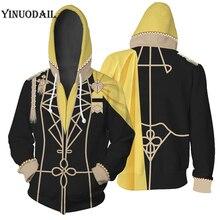 YINUODAIL Mens Hoodie Sweatshirt Fire Emblem Three Houses Claude von Regan Cosplay Costume Custom Cool Uniform