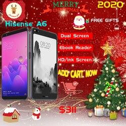 Оригинальный сканер отпечатков пальцев ЖК-дисплей Hisense A6 мобильный телефон Snapdragon 660 Android 8,0 6,01 дюймAMOLED + 5,61дюйм чернила двойной экран 6 ГБ ОЗУ 128 Гб ПЗУ