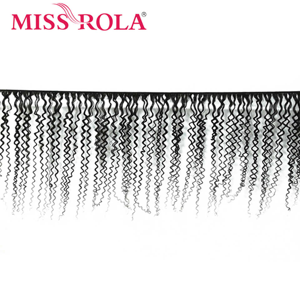 Miss Rola peruwiańskie pasma włosów z zamknięcia perwersyjne kręcone włosy 3 wiązki z 4*4 zamknięcia 100% ludzkich włosów doczepy z włosów typu remy