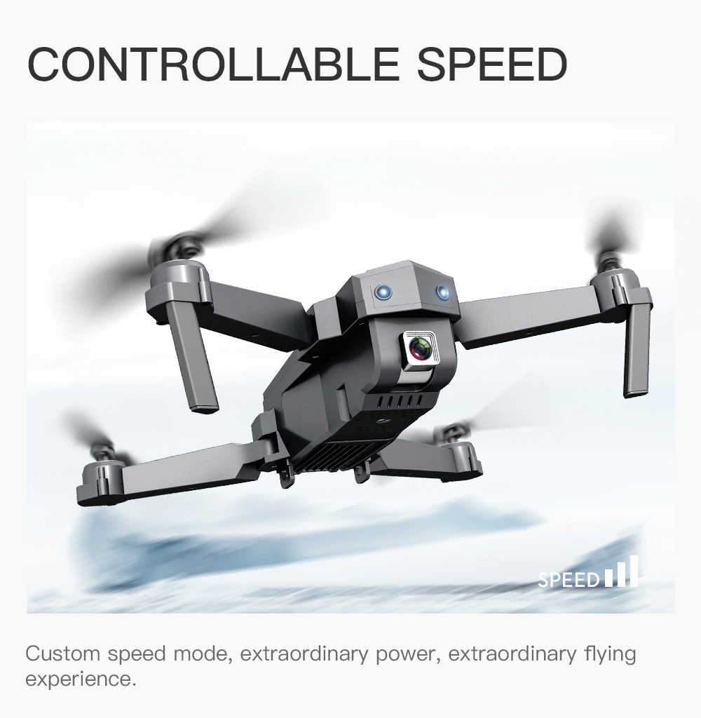 Best Drone 4K with HD Camera WIFI 1080P Camera Follow Me Quadcopter FPV Smart Drone Long Battery Life Altitude Hold RC 6