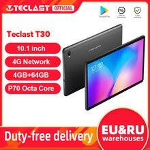 Teclast tablet t30 10.1 polegadas 4g phablet, 1920 × 1200 full hd android 9.0 mtk p70 octa core a73 4gb de ram 64gb rom 8000mah tipo c gps
