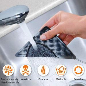 Image 5 - 4 sztuk/zestaw wielokrotnego użytku zmywalny dywan mata dywanowa chwytaki antypoślizgowe silikonowe maty do kąpieli Grip Protect dla domu do łazienki do pokoju gościnnego pokój