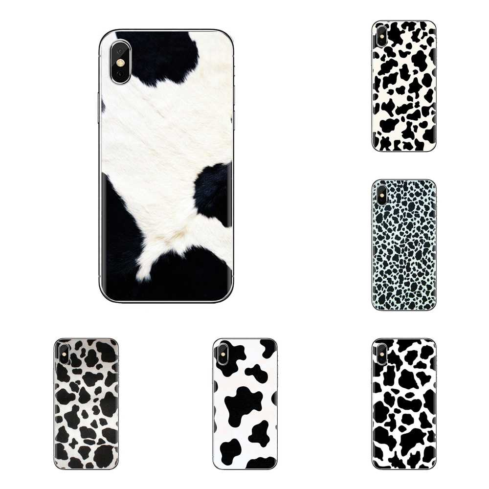 Siliconen Telefoon Skin Case Wit Zwart Koe Symbool Voor Xiaomi Mi3 Samsung A10 A30 A40 A50 A60 A70 Galaxy S2 opmerking 2 Grand Core Prime
