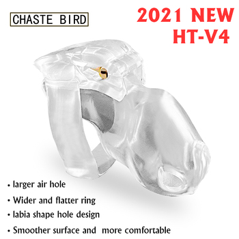 CHASTE BIRD 2021 New Male Chastity Device HT-V4 Set Keuschheitsgurtel Cock Cage Penis Ring Bondage Belt Fetish Adult Sex Toys