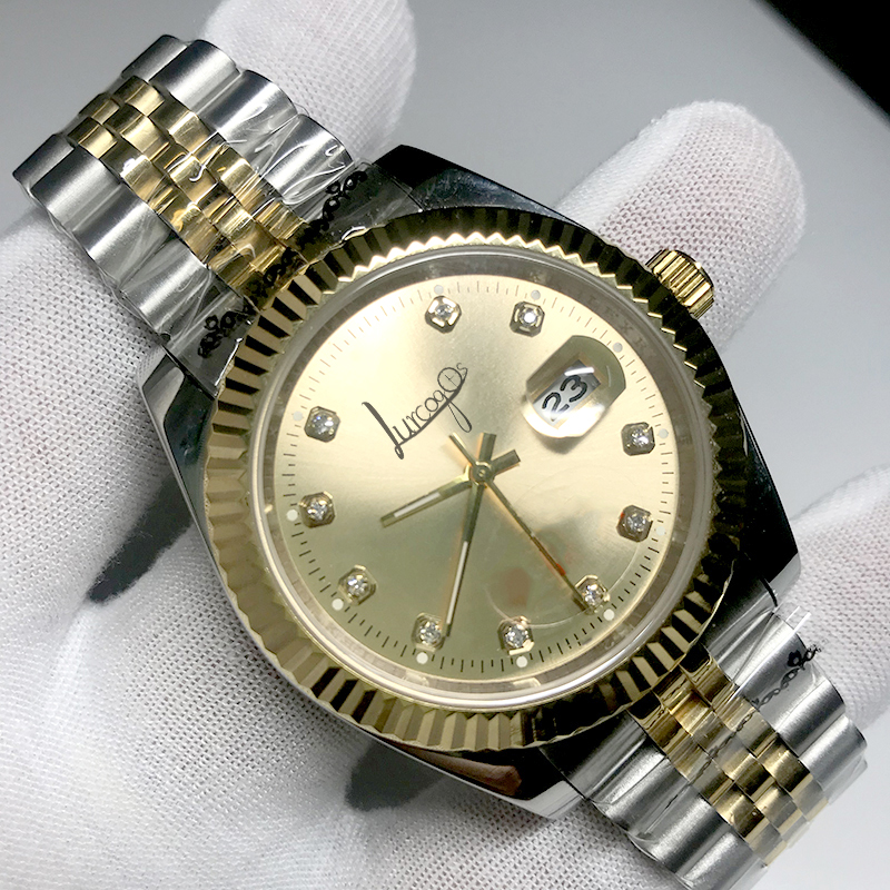 New Gold Luxury Brand Watch 36mm & 40mm Automatic glide smooth second hand Mechanical Datejust Watches AAA