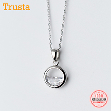 Necklace Pendant 925-Jewelry Clavicle-Chain Crystal 925-Sterling-Silver Trustdavis Women