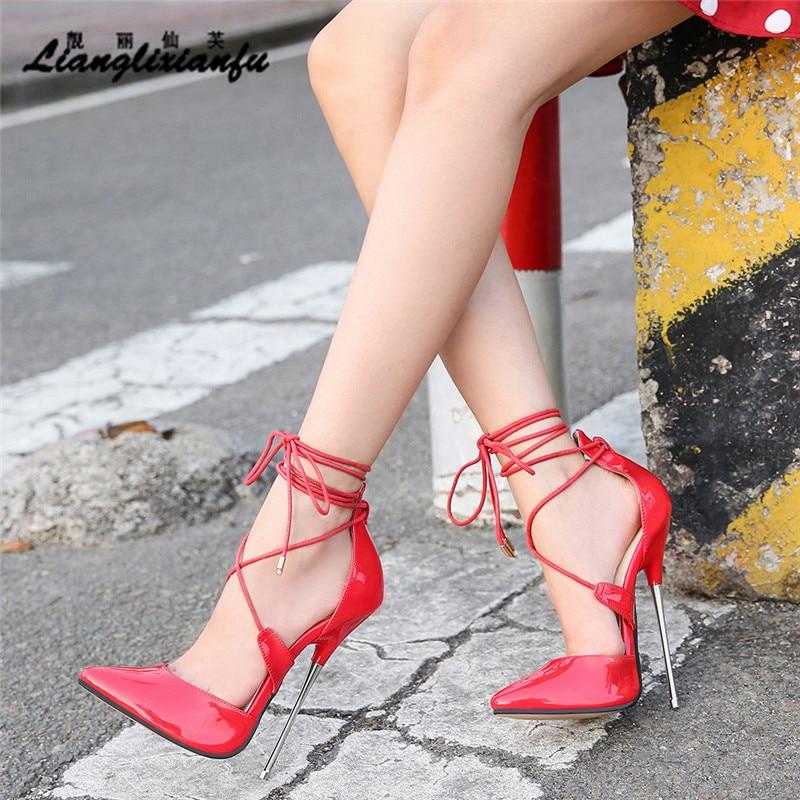 Где купить Летние туфли для трансвеститов; zapatos mujer; босоножки на тонком высоком каблуке 16 см; женские свадебные туфли-лодочки; Свадебная Пряжка из лакированной кожи на шпильке