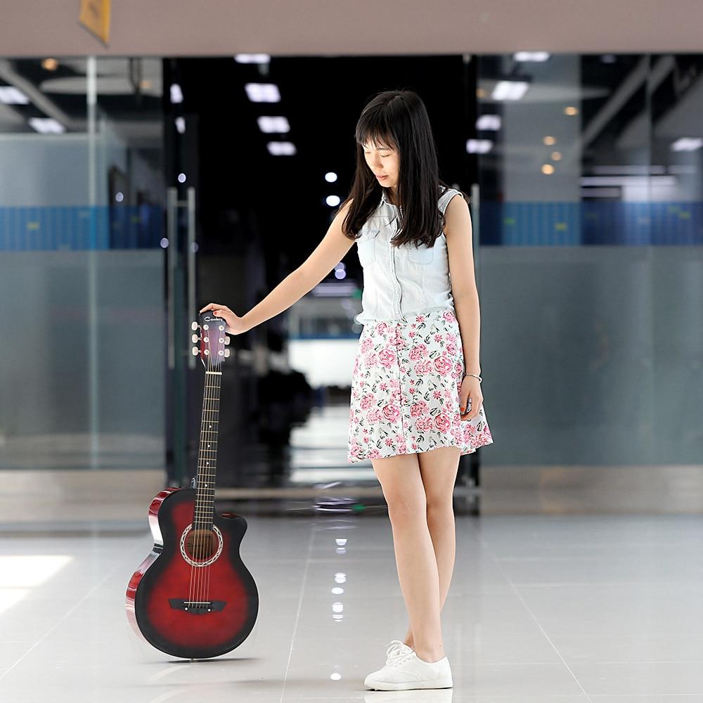 """Wysokiej jakości 38 """"gitara akustyczna Folk 6 strunowa gitara dla początkujących gitara prezent dla studenta"""