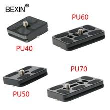 BEXIN tripod plate quick release plate small camera plate quick clamp fast mount PU plate for arca swiss dslr camera tripod head