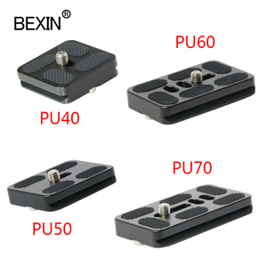 Image 1 - BEXIN tripod plate quick release plate small camera plate quick clamp fast mount PU plate for arca swiss dslr camera tripod head