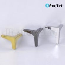 4Pcs ריהוט רגלי ספה כיסא רגליים ארון קבינט רגל 10.2/13.6/15.2/16.8CM גובה מיטה רגליים עם ברגים