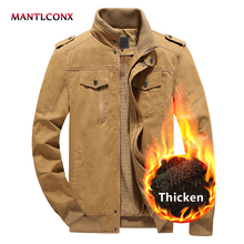 MANTLCONX Winter Jacket Men 2019 Fleece Warm Male Solid Thick Mens Jackets and Coats Man Military 5XL 6XL