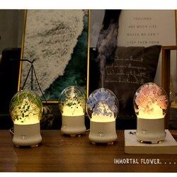 Wieczne kwiat Aroma dyfuzor olejek OLEJEK ETERYCZNY powietrza nawilżacz powietrza z kolorowe lampki LED dla domu ultradźwiękowy chłodna mgiełka oczyszczacz powietrza