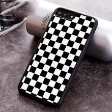 Schachbrett Plaid Checkered telefon Fall abdeckung Für iPhone 5 6 6s 7 8 plus 11 pro X XR XS max Samsung S7 rand S8 S9 S10(China)