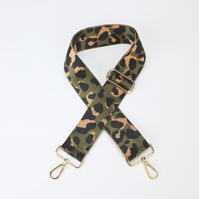 Nylon Colored Women Bag Strap Leopard For Crossbody Adjustable Bag Accessories Handle Shoulder Straps For Bags Belt Correa Bolso