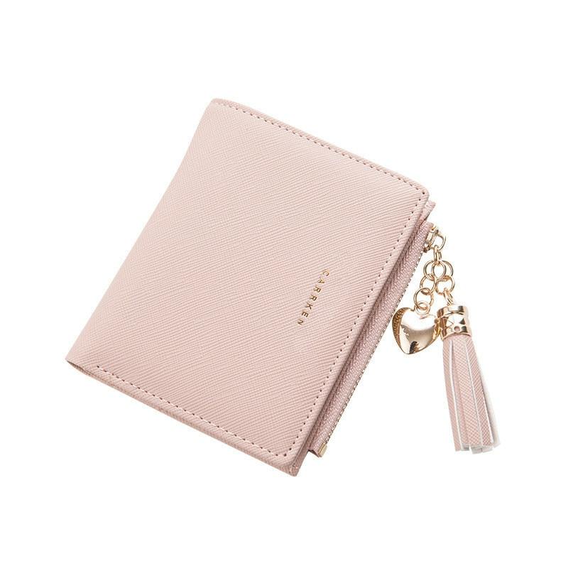 2019 Tassel Women Wallet Small Cute Wallet Women Short Leather Women Wallets Zipper Purses Portefeuille Female Purse Clutch