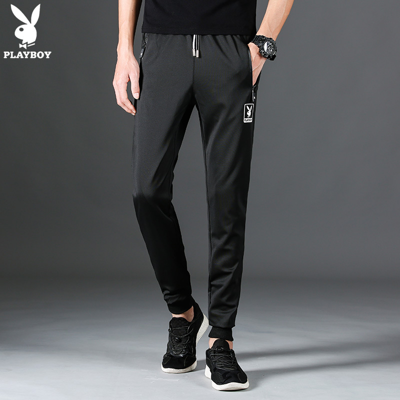 PLAYBOY Casual Pants Men's Spring New Style Men'S Wear Slim-Fit Pants Youth Casual Pants Korean-style Trend Pants