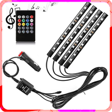 Car LED Foot Ambient Light Backlight Music Control App RGB Car Accessories Interior Decoration Atmosphere Lights