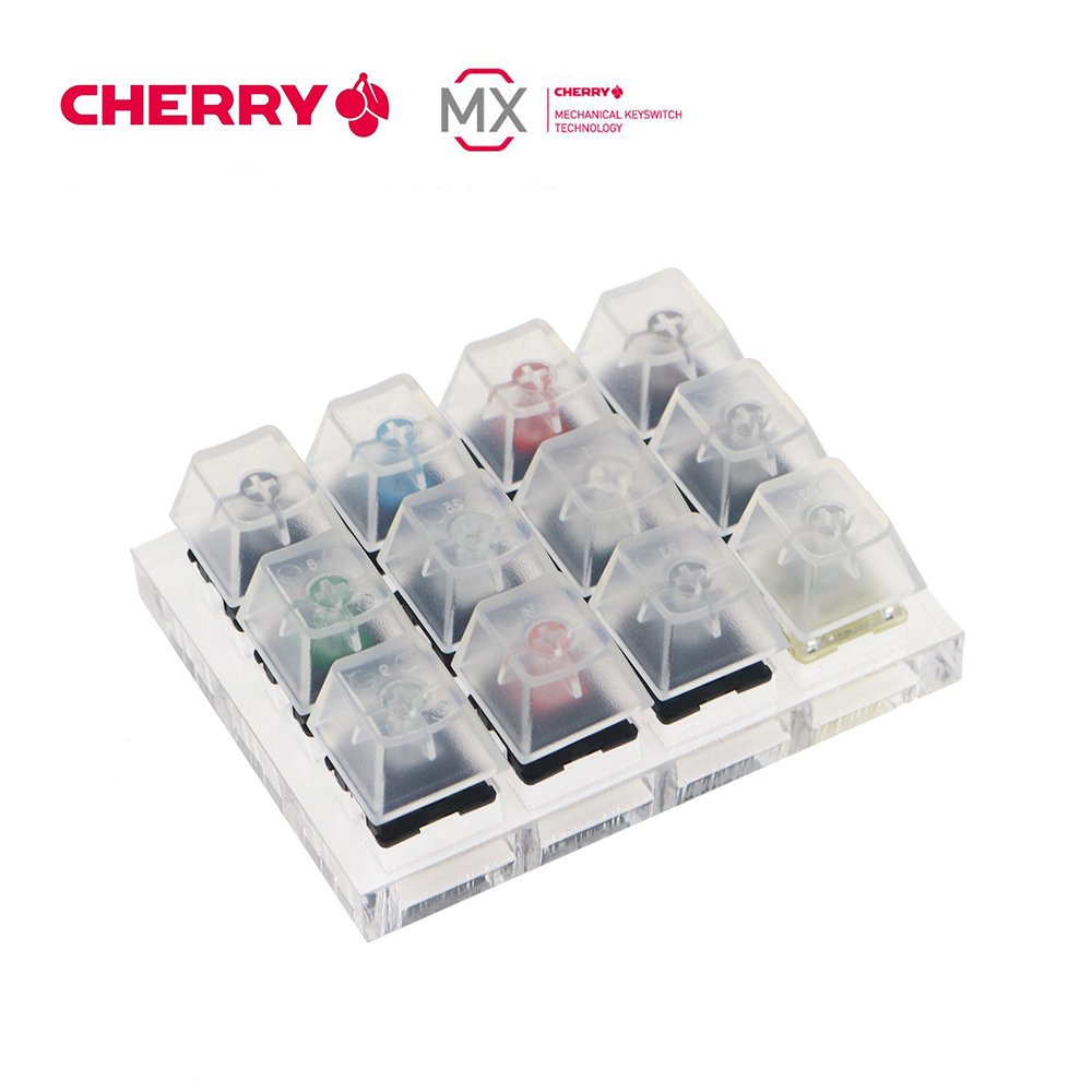JKDK 12 Cherry MX Switches <font><b>Keyboard</b></font> <font><b>Tester</b></font> Kit Clear Keycaps Sampler PCB <font><b>Mechanical</b></font> <font><b>Keyboard</b></font> Translucent Keycaps Testing Tool image