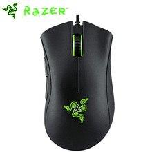 Проводная игровая мышь Razer DeathAdder, мышка 6400 точек/дюйм, оптический сенсор, 5 профессиональных игровых мышей для ПК, компьютера