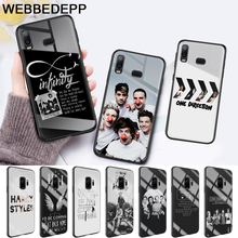 One Direction luxury Glass Case for Samsung S7 Edge S8 S9 S10 Plus A10 A20 A30 A40 A50 A60 A70 Note 8 9 10 harry styles butterfly glass case for samsung s7 edge s8 s9 s10 plus a10 a20 a30 a40 a50 a60 a70 note 8 9 10