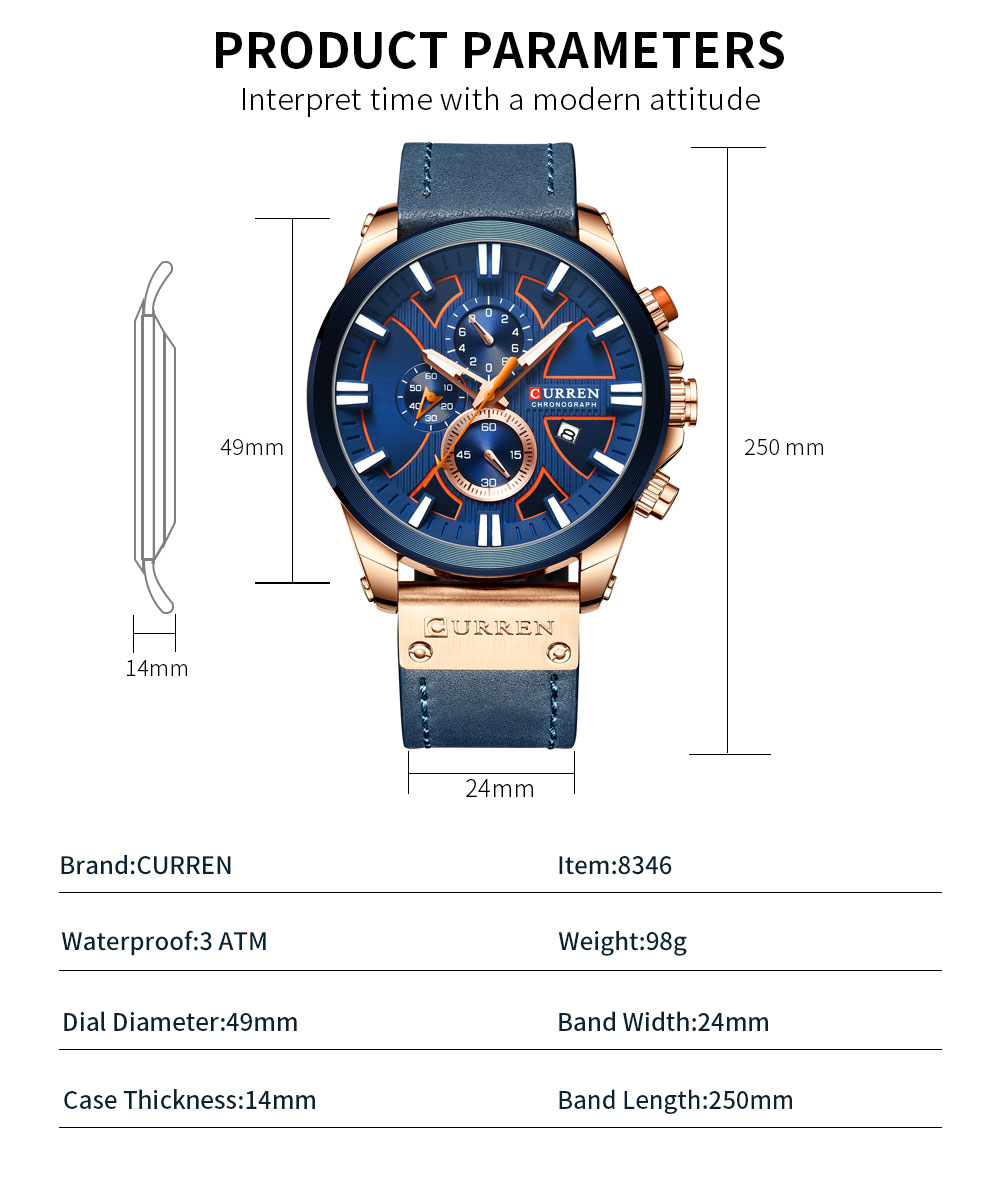 H78fc513bd0cd4c86b5c2a9be952d51c5K CURREN  Brand Luxury Men Watch Leather Quartz Clock Fashion Chronograph Wristwatch Male Sport Military 8346 Relogio Masculino
