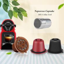 ICafilasFor Nespresso filtr do kawy wielokrotnego użytku Refilter kapsułki z kawą ostatnie narzędzie DIY akcesoria cheap Reusable Coffee Capsule Sliver Stainless Steel 350ml Nespresso capsule 50ml Wielokrotnego użytku Filtry i Cafilas Z tworzywa sztucznego