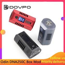 تصميم جديد Dovpo Odin DNA250C صندوق وزارة الدفاع مدعوم من بطاريات مزدوجة 21700 تناسب البخاخة 510 موضوع vape خزان E-cig وزارة الدفاع